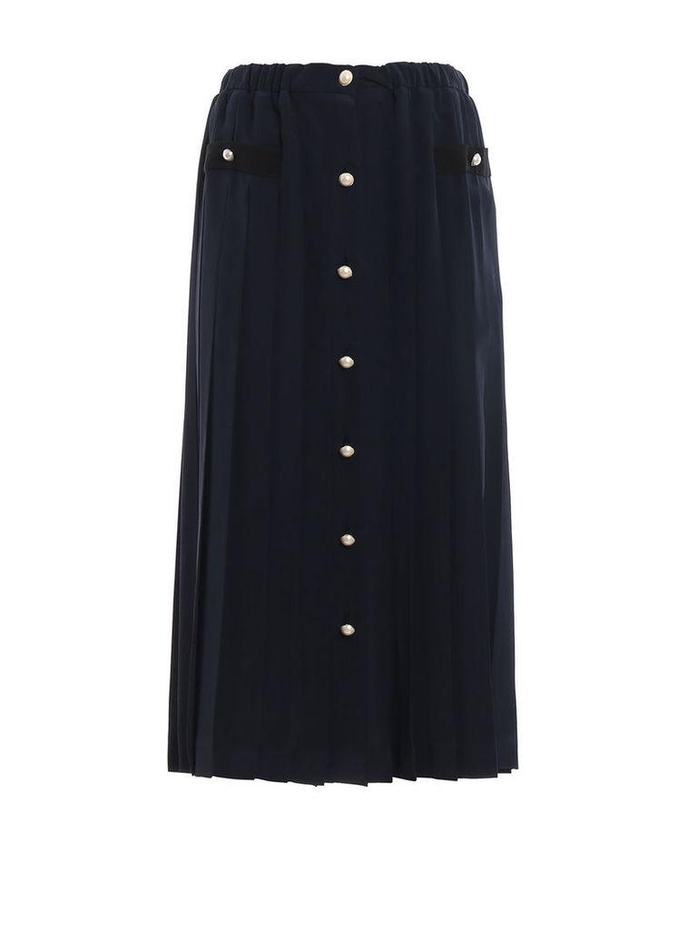 Miu Miu Pleated Midi Skirt