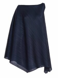 Pleats Please By Issey Miyake Flared One-shoulder Dress