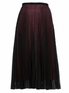Marco de Vincenzo Pleated Openworked Skirt