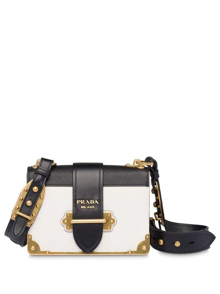 Prada Cahier leather shoulder bag - White
