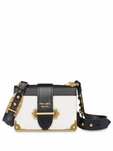 Prada Cahier leather shoulder bag - White