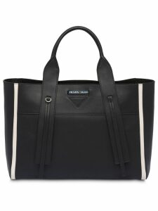 Prada Ouverture large leather bag - Black