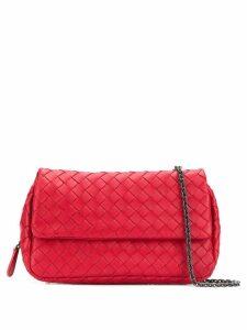 Bottega Veneta Intrecciato crossbody bag - Red