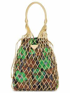 Prada fabric mesh bag - Gold