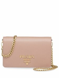 Prada Saffiano leather shoulder bag - Pink
