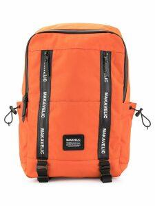 Makavelic large rectangular backpack - Orange