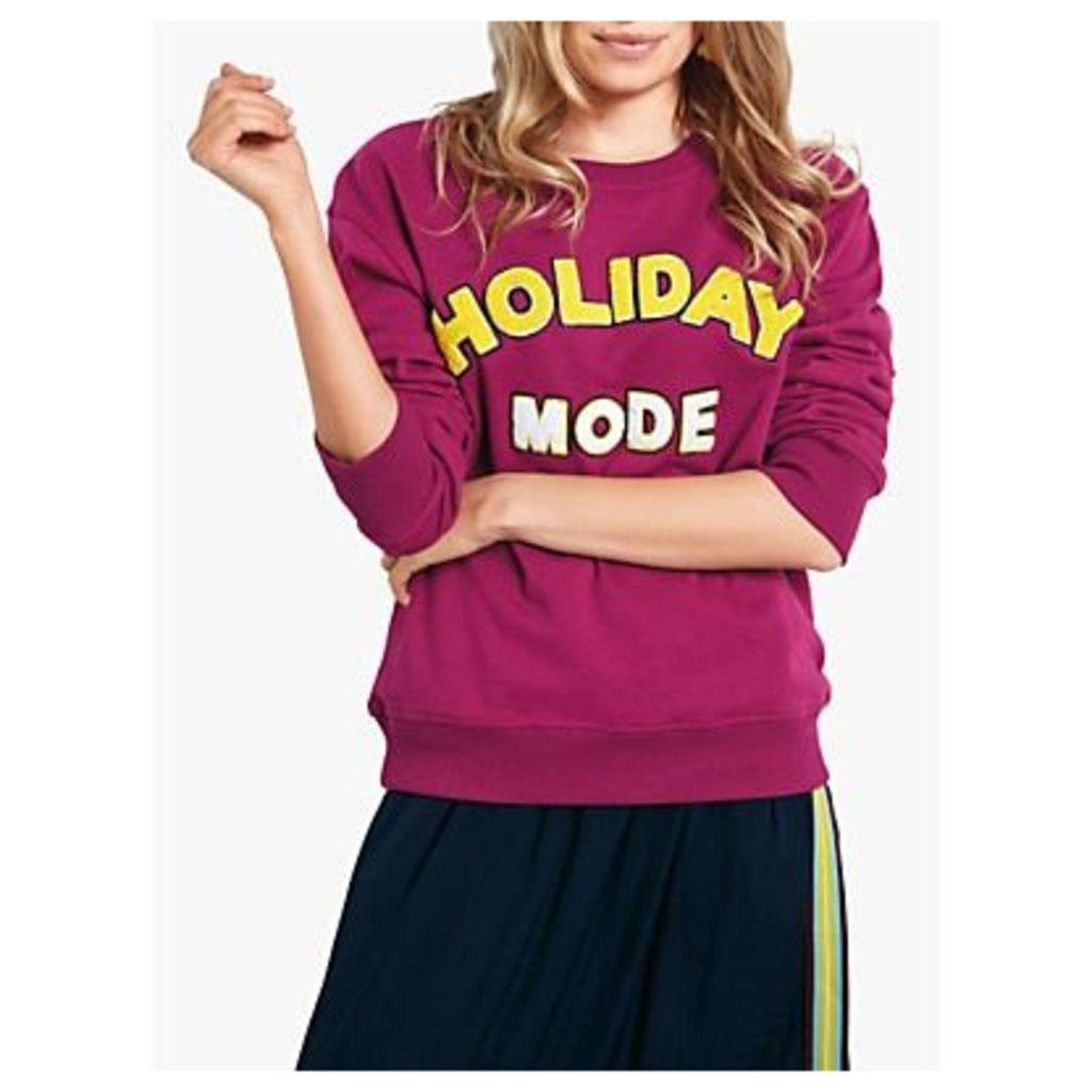 hush Holiday Mode Long Sleeve Sweat Top, Burgundy/Multi