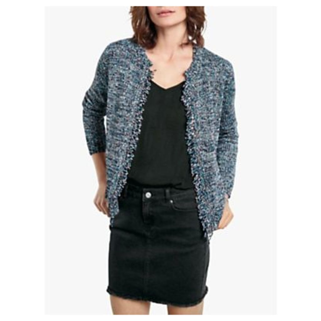 hush Space Dye Textured Knit Jacket, Multi Fleck