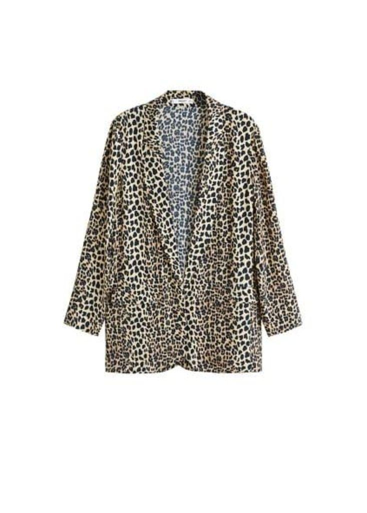 Printed flowy blazer