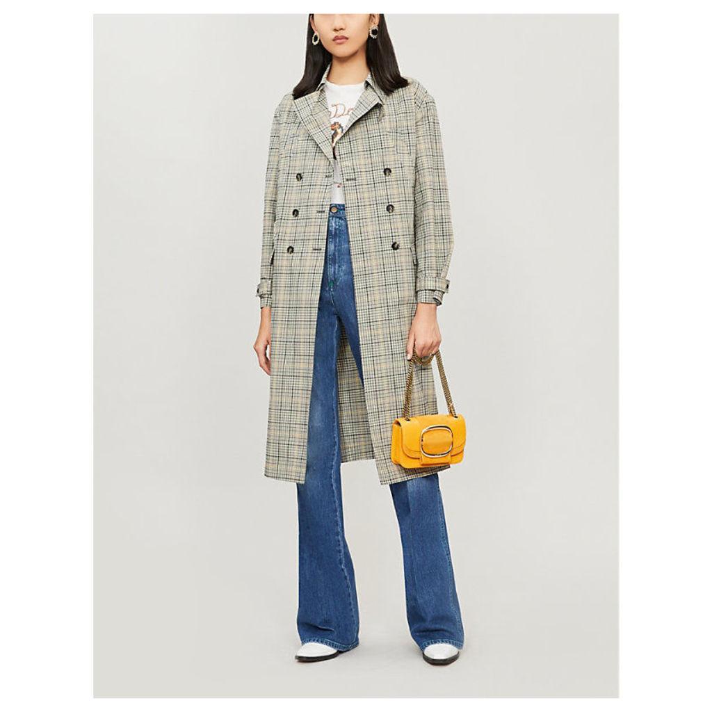 Isor checked cotton coat