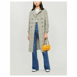 Isor checked cotton coat