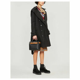 The Kensington check-lined cotton-gabardine trench coat