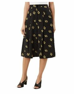 Hobbs London Emmy Dotted-Floral-Print Skirt