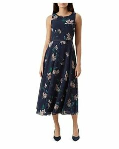 Hobbs London Carly Sleeveless Floral-Print Dress