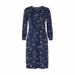 Cross Dye Floral Pintuck Detail Dress