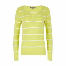 Yellow Stripe Henley Jumper