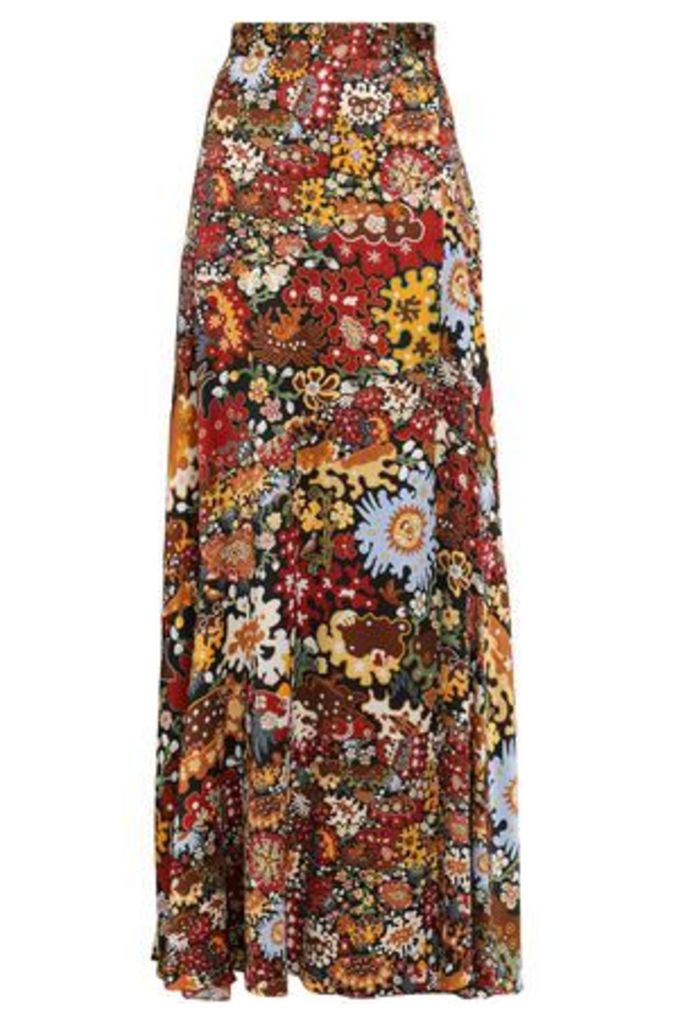 Peter Pilotto Woman Silk-jacquard Maxi Skirt Multicolor Size 14