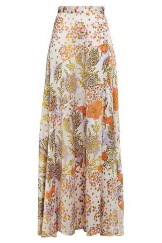Peter Pilotto Woman Silk-jacquard Maxi Skirt White Size 12