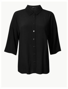 M&S Collection Oversized 3/4 Sleeve Shirt
