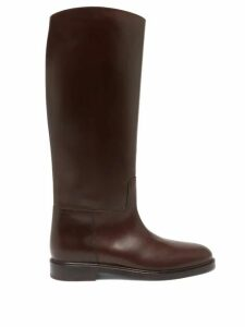 Gucci - Alsacienne Print Pleated Silk Skirt - Womens - Pink Multi