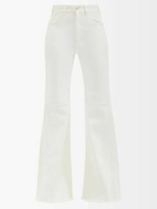 Gucci - Tartan Pleated Wool Midi Skirt - Womens - Green Multi