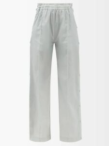 Gucci - Logo Fil Coupé Cotton Poplin Shirt - Womens - Blue Multi