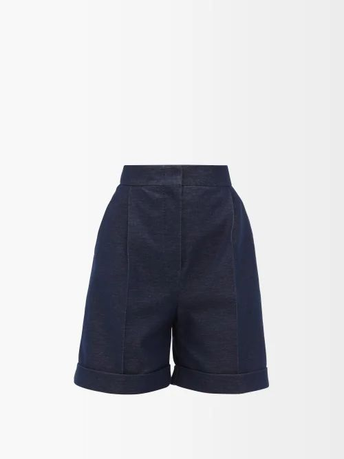 Raf Simons - Draped Panel Lamé Jacquard Sweater - Womens - Silver Multi