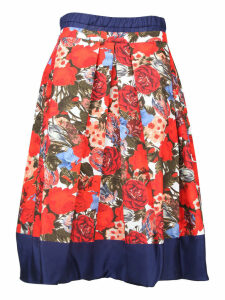 Marni Floral Pleated Skirt