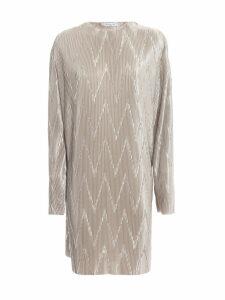 Givenchy Zig-zag Pleated Short Dress