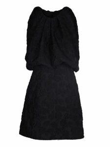Calvin Klein Embroidered Brocade Dress