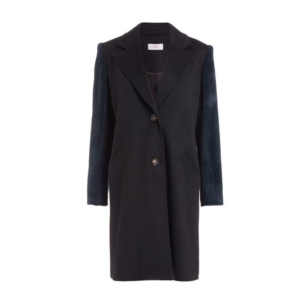 WtR Serge Black Wool Alpaca Coat