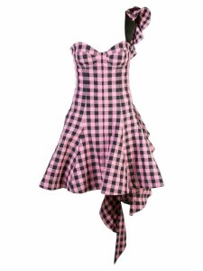 Natasha Zinko checked flared dress - Pink
