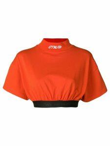 Heron Preston elastic band cropped T-shirt - Red