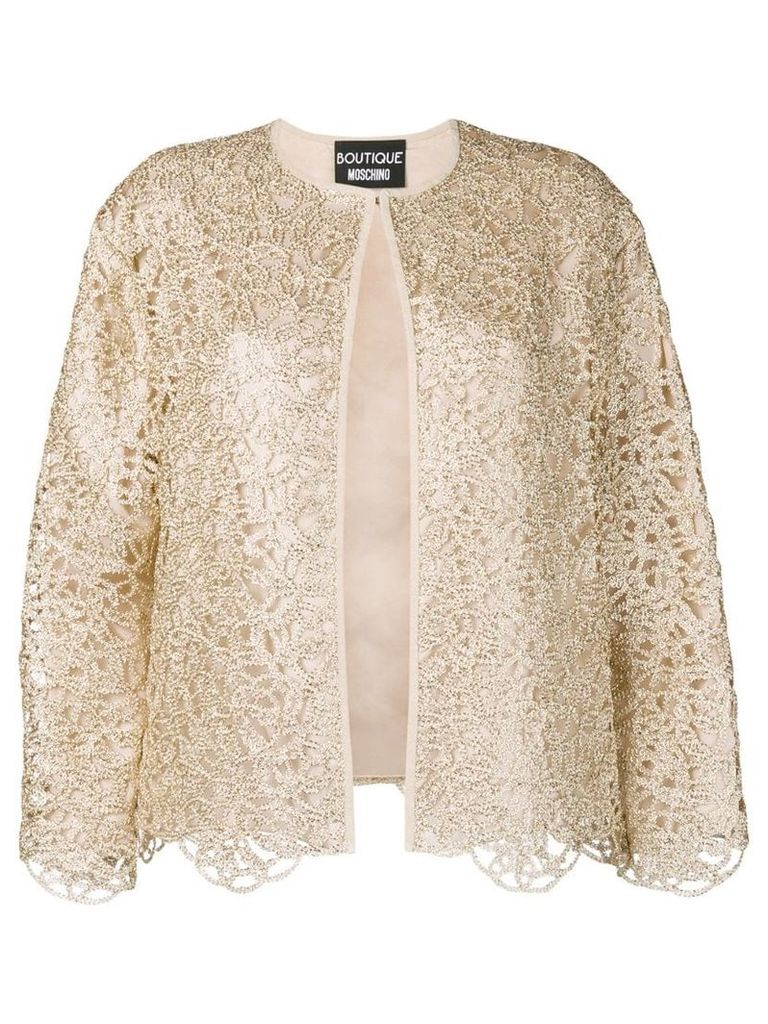 Boutique Moschino lace detail jacket - Gold