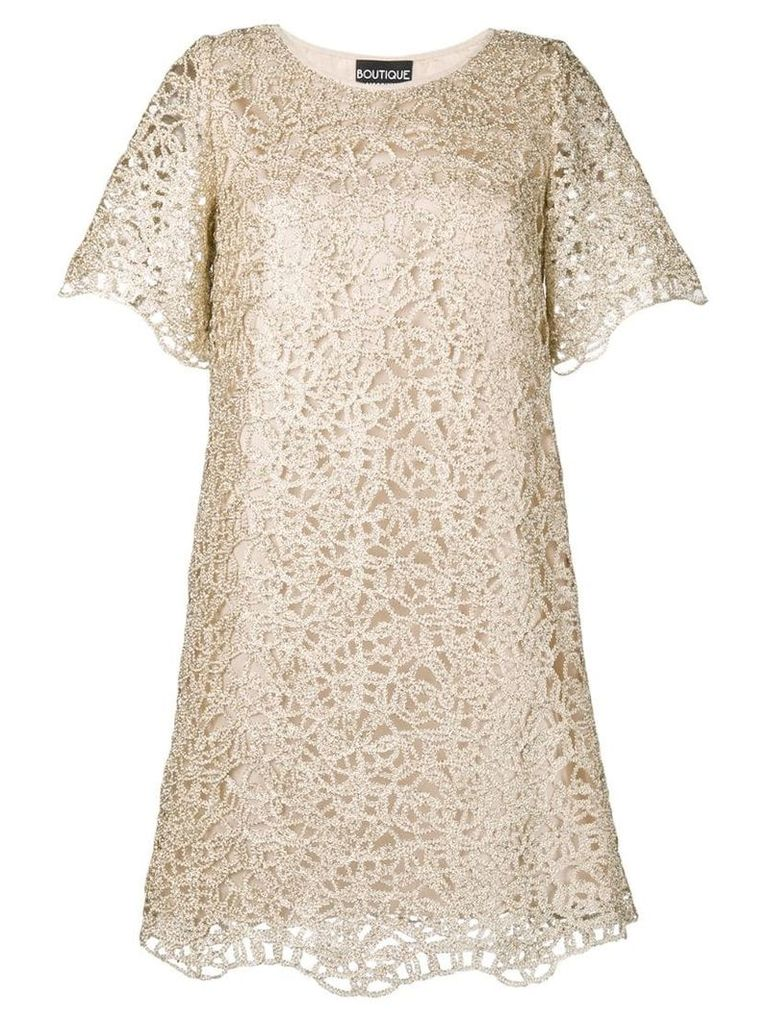Boutique Moschino short lace dress - Gold