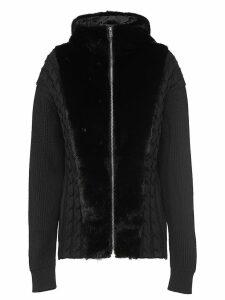 Prada hooded knit cardigan - Black