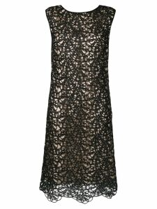 Boutique Moschino fitted two-tone dress - Black