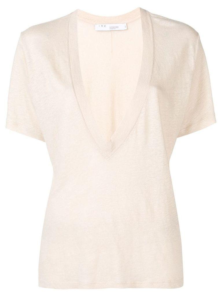 Iro deep V-neck T-shirt - White