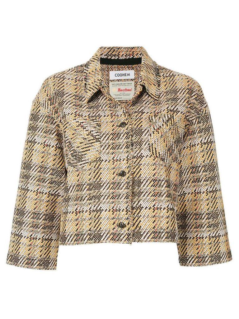 COOHEM tech tweed jacket - Multicolour