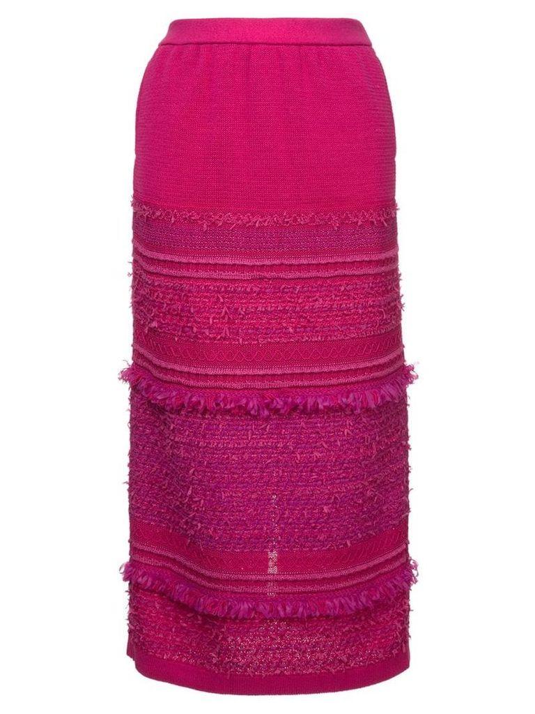 COOHEM tweedy knit skirt - Pink