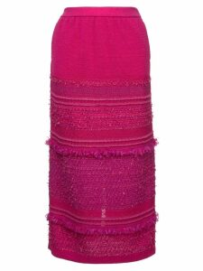 COOHEM tweedy knit skirt - Pink