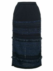 Coohem tweed midi skirt - Blue