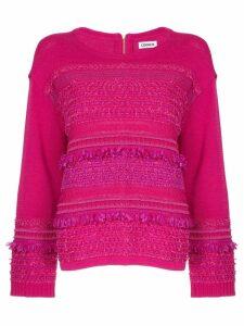 COOHEM tweedy knit sweater - Pink