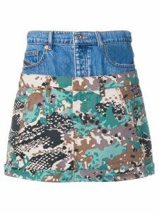 Diesel short layered skirt - Blue