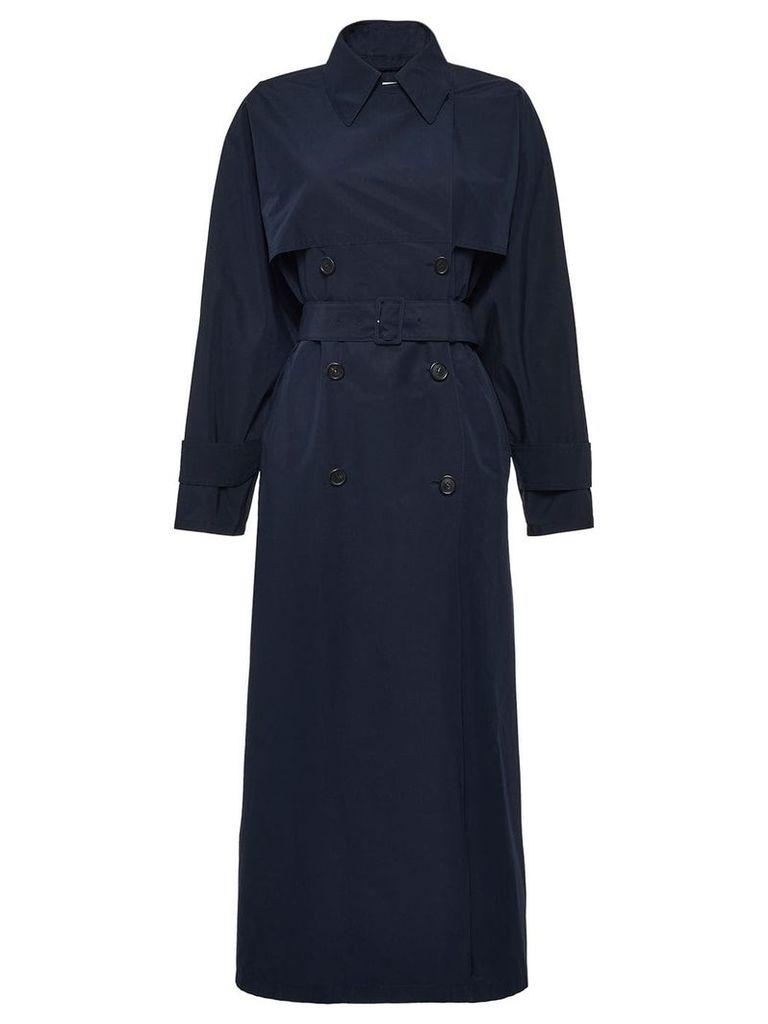 Prada mid-length trench coat - Blue