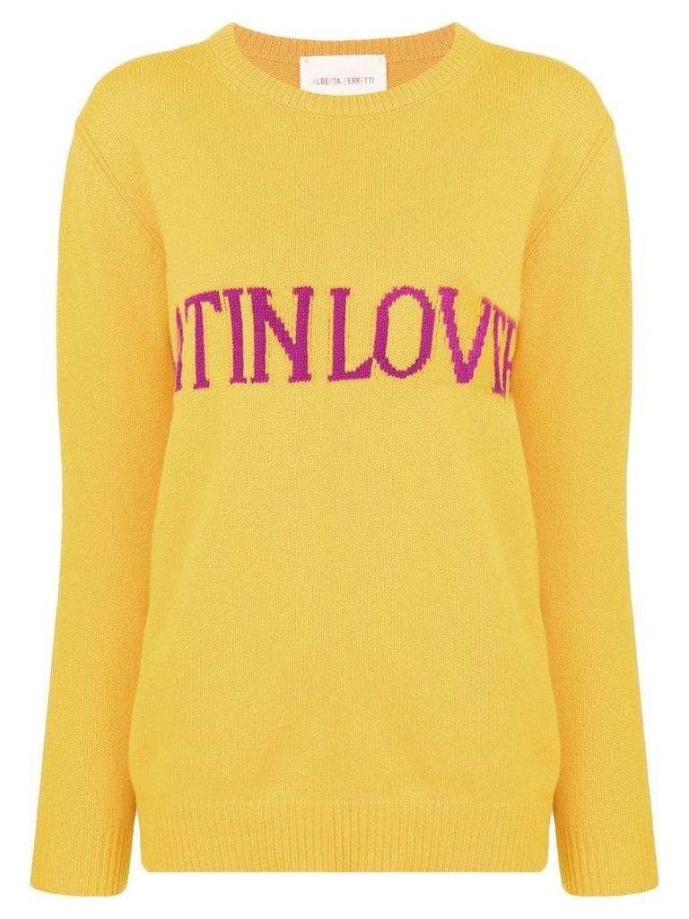 Alberta Ferretti Latin Love intarsia jumper - Yellow