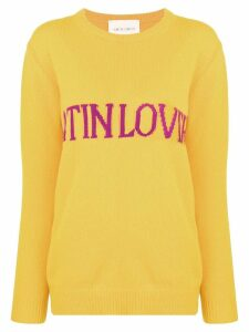 Alberta Ferretti Latin Love intarsia jumper - Yellow