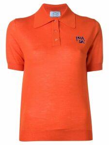 Prada knitted polo shirt - Orange