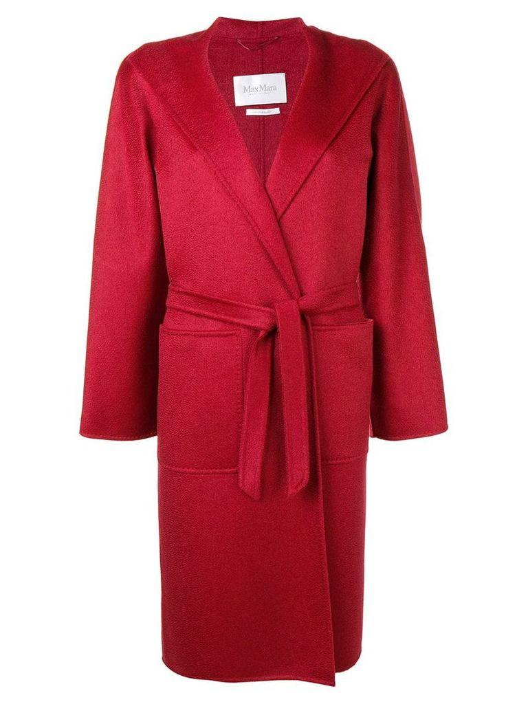 Max Mara Lilia wrap coat - Red