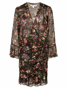 Veronica Beard floral print wrap dress - Black
